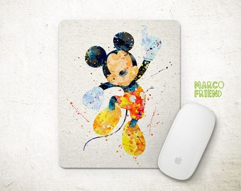 Disney, Mickey Mouse, Watercolor Art, Prints, Poster, Watercolor Painting, Kids Decor, Playroom Decor, Office Decor, Gifts - P145
