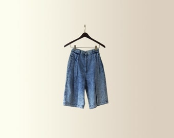 Vintage 90s Acid Wash High Waisted Shorts by Mizz Lizz Size 24 XS