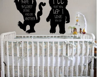 Where the wild things are decal