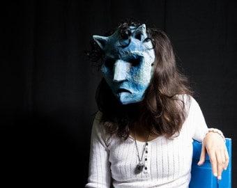 Mask Blue Cat paper Maché magic