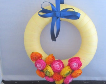 Bright and bold decorative  wreath