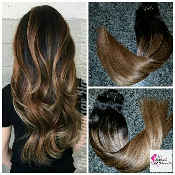 Clip in hair extensions black hair extensions balayage hair like this item pmusecretfo Images