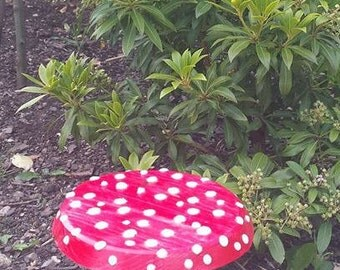 Red Toadstool Hand Made From Wood