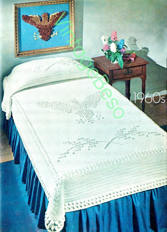EAGLE Bedspread CROCHET Pattern Afghan Crochet by VintageBeso