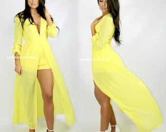 Maxi romper dress - Yellow