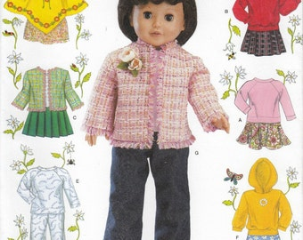 18 Inch Doll Apron Sewing Pattern, Doll Clothes Sewing Pattern, American Girl Doll Dress, Uncut Sewing Pattern, Simplicity 4297