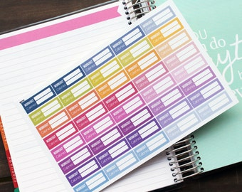 Weight Loss Planner Stickers Erin Condren Life Planner (Eclp) - 40 Workout Calorie Fitness Exercise Stickers (#6010)
