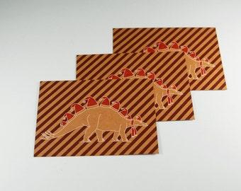 Stegosaurus dinosaur christmas card