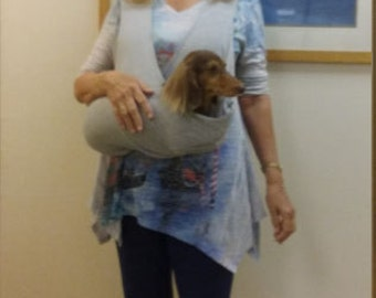 Barky's Bag For Longer Body Pets (Dachshunds) Up to 15 Lbs. One size for pet. Pick owners size.