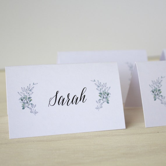 Wedding Guest Place Cards Place Card Tags DIY Escort Place