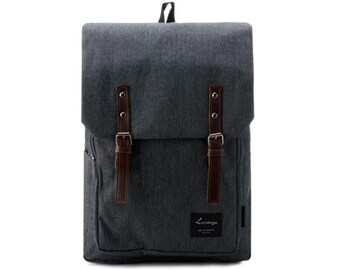 Decent Laptop Canvas Backpack (Dark Gray)