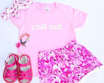 Pink Flamingo shorts- flamingo birthday shorts, flamingo shorts, pink flamingo party
