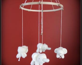 Baby elephant mobile