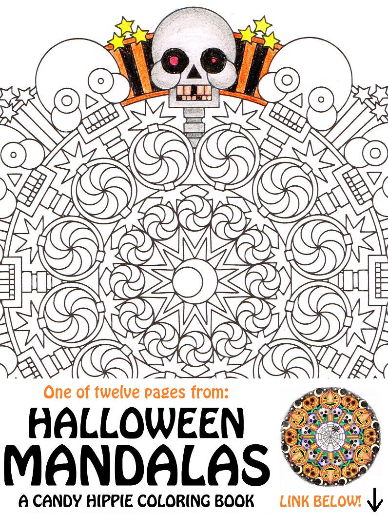 Halloween Mandala Coloring Page 2Spooky printable spooky