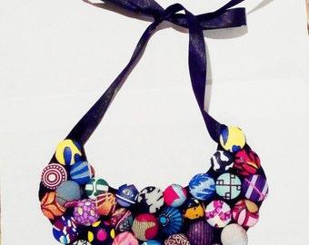 Ankara bib necklace
