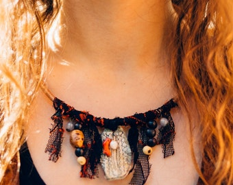 Bohemian Nature Inspired Charm Necklace
