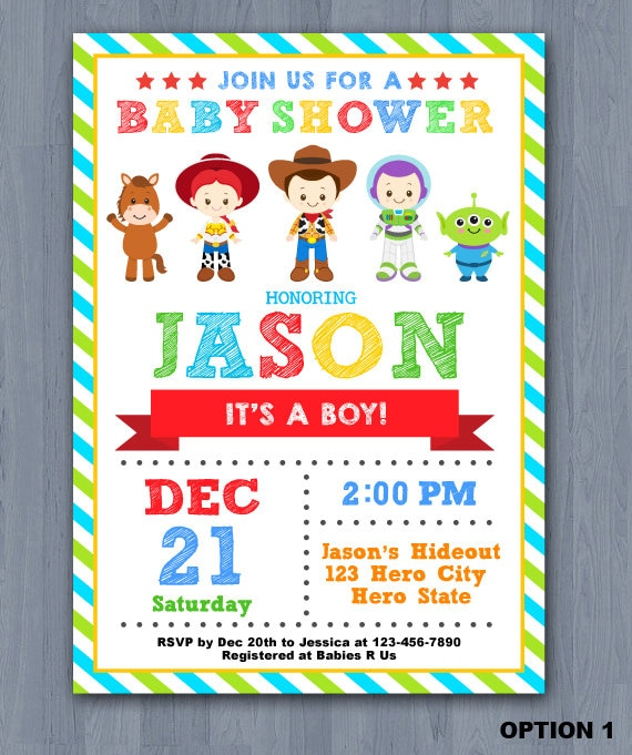 toy story baby shower invitation toy story baby invitation toy story