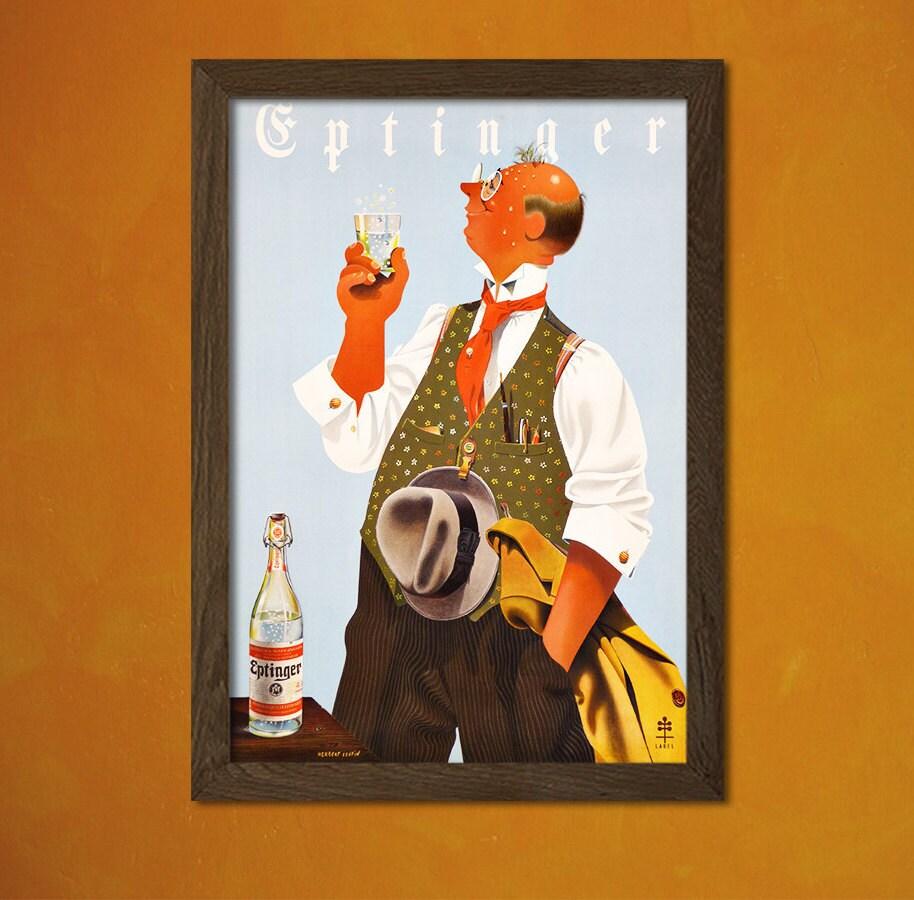 Cuisine vintage poster cuisine nourriture impression affiche for Affiche cuisine retro