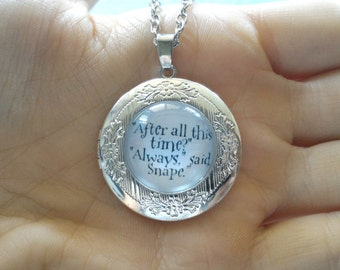 Always Locket Necklace, After All This Time?, Snape And Lily, Vintage inspired locket, Rounded locket necklace