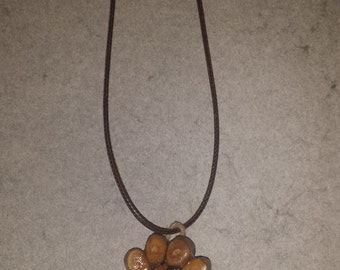 Paw Print Pendant on Cord Necklace