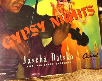 Gypsy Nights Jascha Datsko and His Gypsy Ensemble 1947 Vintage Record, Set of 4, 78 RPM
