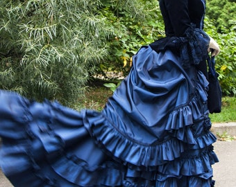 Midnight Blue Victorian costume made to order