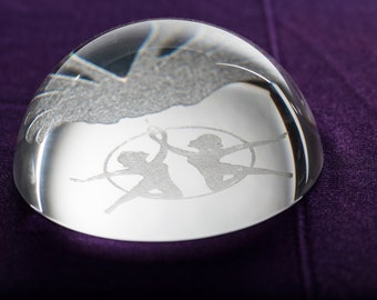 Crystal Moon Paper Weight