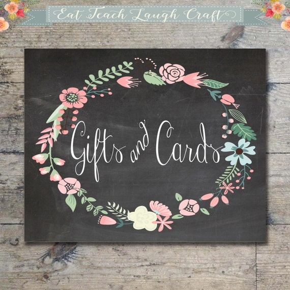 Gifts And Cards Chalkboard Sign Chalkboard Wedding Or Shower