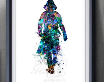 Harry Potter Severus Snape Watercolor Art Poster Print - Wall Decor - Watercolor Painting - Home Decor  - Kids Decor - Nursery Decor