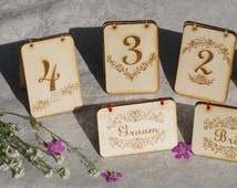 Custom table number * Wooden table number * free standing table name * custom Wedding table sign * personalized wedding table decoration