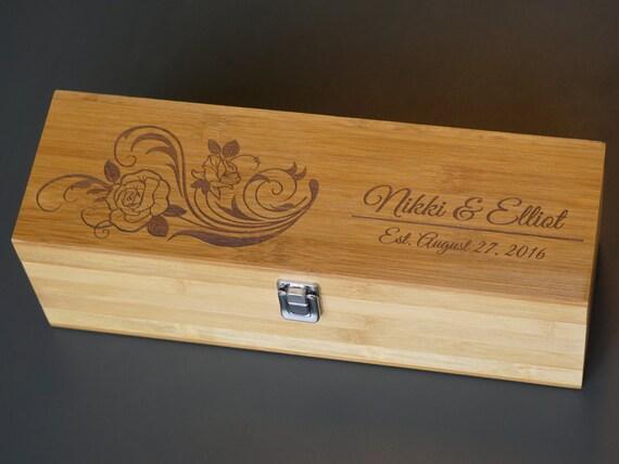 Wooden Wine Box Wedding Gift : wine box * Anniversary Gift * WEDDING WINE BOX * custom wood wine box ...