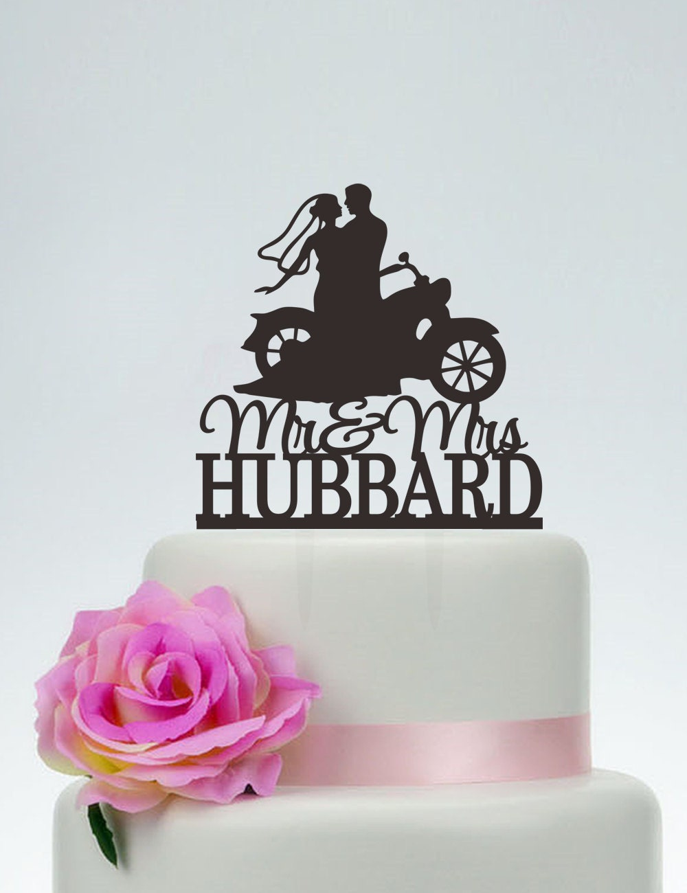 Mr And Mrs Wedding Cake Topper With Last Namebride And Groom