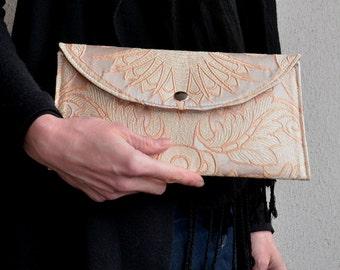 Silk Clutch, Evening Bag, Wedding Bag, Clutch Purse, Small Purse, Silver and Gold Clutch, Bridesmaid Bag, Wedding Clutch, Evening Purse