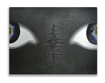 Oasis I, Original Acrylic and Resin Painting, Handmade by MENGXUAN LIU