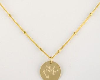 Constellation necklace, Zodiac Jewelry, Astrology Zodiac necklace, libra, virgo, scorpio, sagittarius, capricorn necklace, Christmas gift