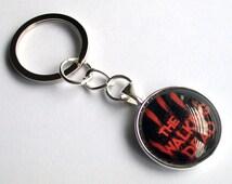 The Walking Dead Keychain ~ Zombie Keyring ~ Walking Dead Bag Charm ~ Rick Grimes