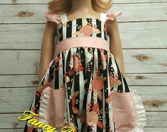 Ruffle Sleeve Pocket Dress