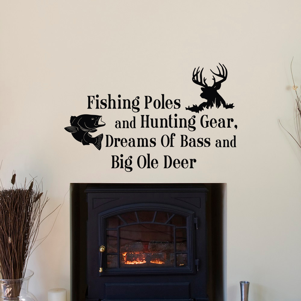 Country wall decals quotes fishing poles and hunting gear for Hunting wall decals