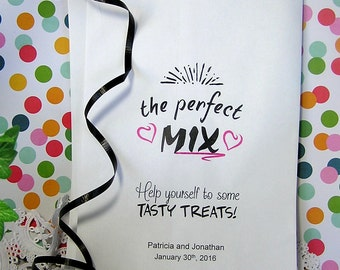 Personalized Trail Mix Bags - Trail Mix Bar Bags - The Perfect Mix - Wedding Reception CB02TM