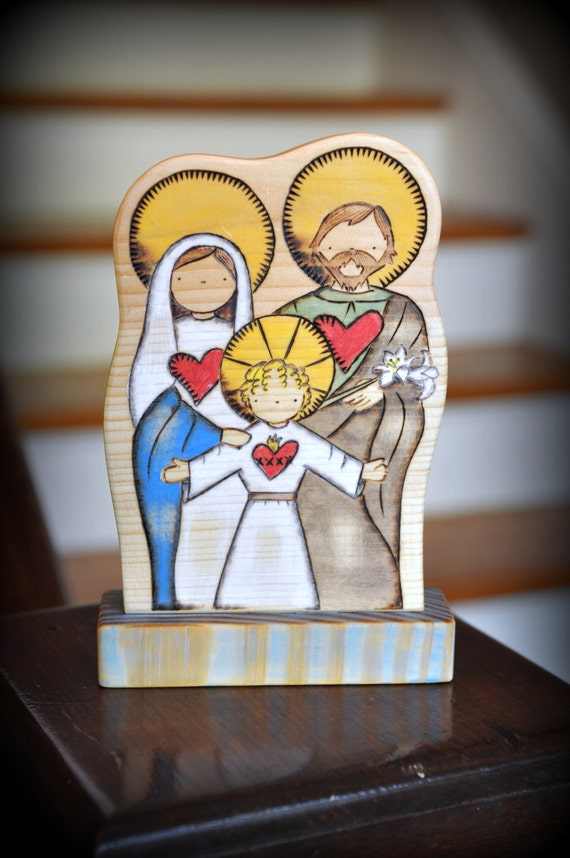 Handmade Holy Family