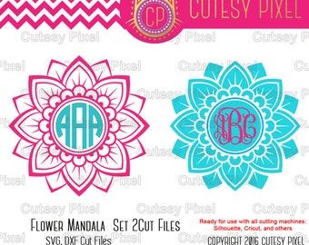Flower Mandala Svg, cutting file, mandala Desings SVG, DXF, Cricut Design Space, Silhouette Studio, Digital Cut Files