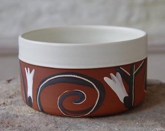 Valentine's Day Gift, Handmade Stoneware Bowl. Serving Bowl. Wedding Gift, Housewarming Gift, Anniversary Gift, New Home Gift