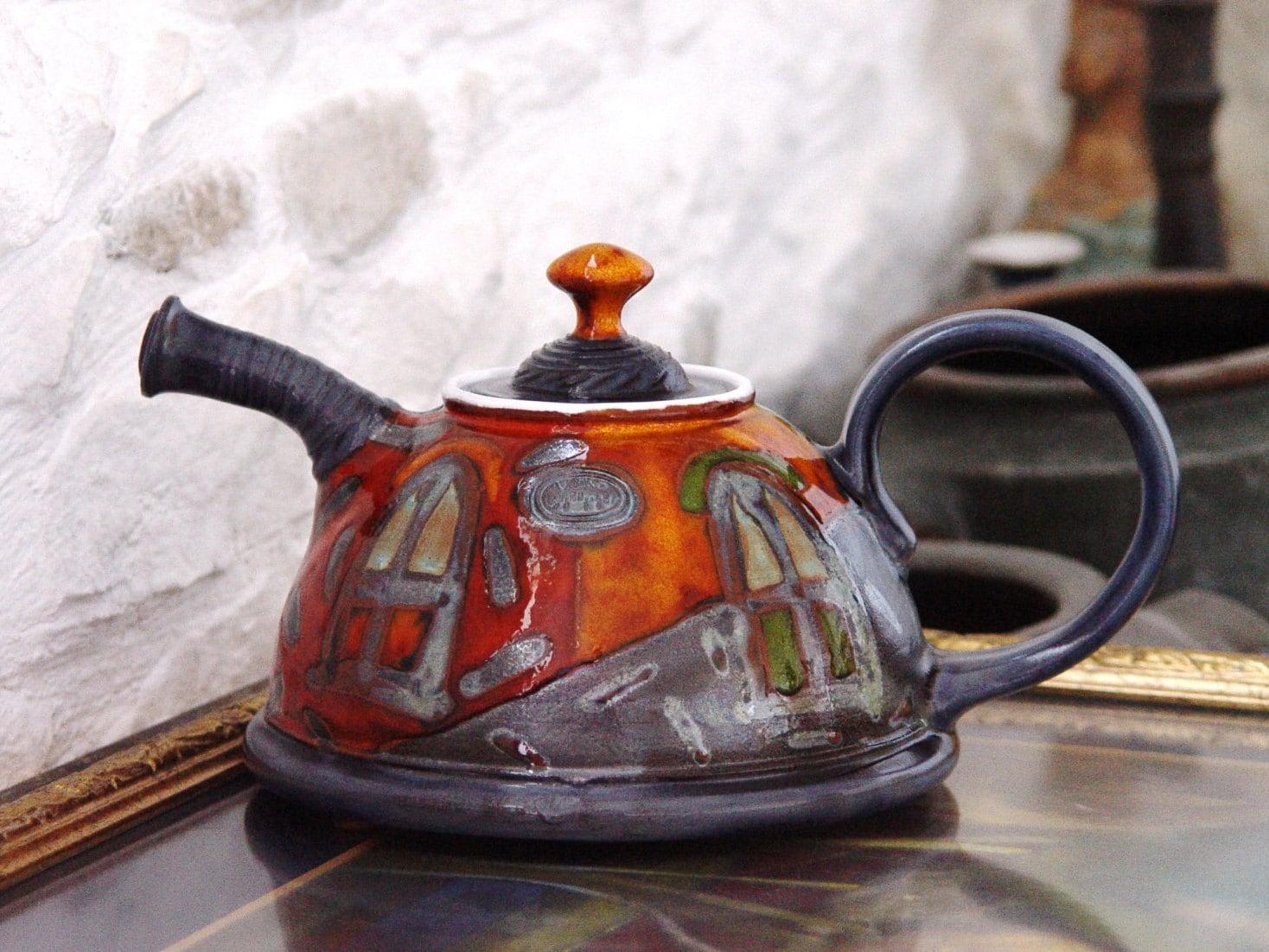 Ceramic Tea Pot Unique Handmade Pottery Teapot Clay Teapot