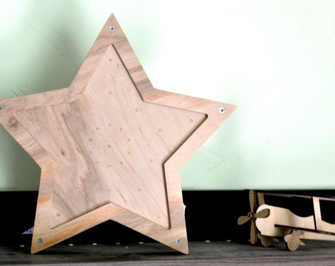 rustic wood star nightlight primitive startlight decoration star wall decor wall hanging kigs gift nursery barn stars wooden gift for him