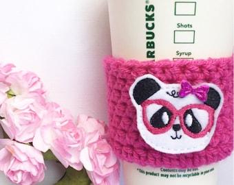 Pink Panda // Coffee Cozy