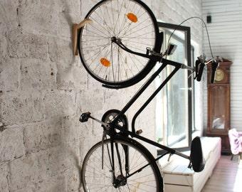 Tokyo - wooden bike rack wall/ hook for bike / bike storage
