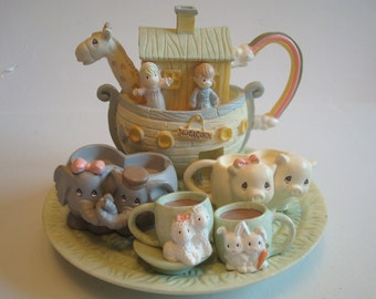 Enesco Precious Moments Noah's Ark mini tea set