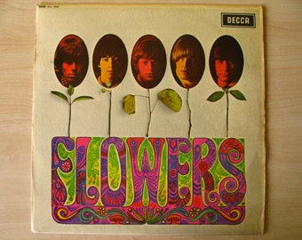 The Rolling Stones vinyl LP record - Flowers (1967 first U.K. release)