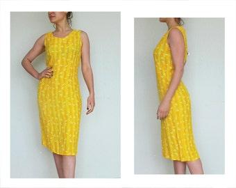 Mustard Yellow Dress, S, coctail dress