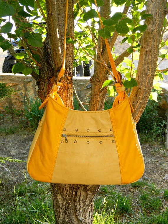 Yellow Leather Handbag from AllasOriginals